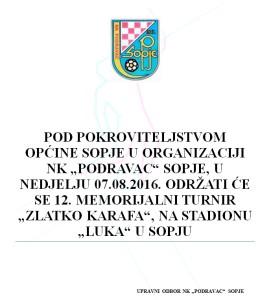 POZIV Zlatko Karafa